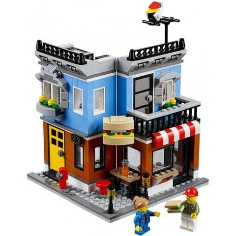 Bộ Lego Creator 31050 - Quán Ăn Góc Phố với 3 kiểu lắp ghép 3 ngôi nhà khác nhau