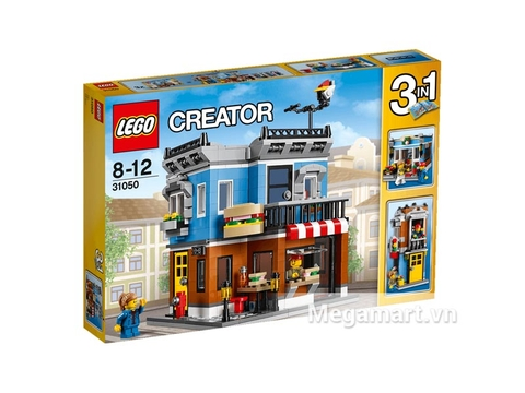 Hình ảnh bên ngoài bộ đồ chơi Lego Creator 31050 - Quán Ăn Góc Phố