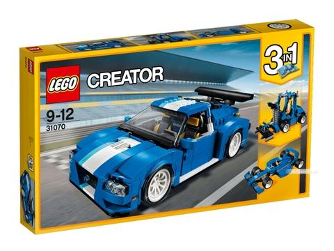 Lego Creator 31070 - Xe đua tốc độ xanh - Vỏ hộp đựng sản phẩm