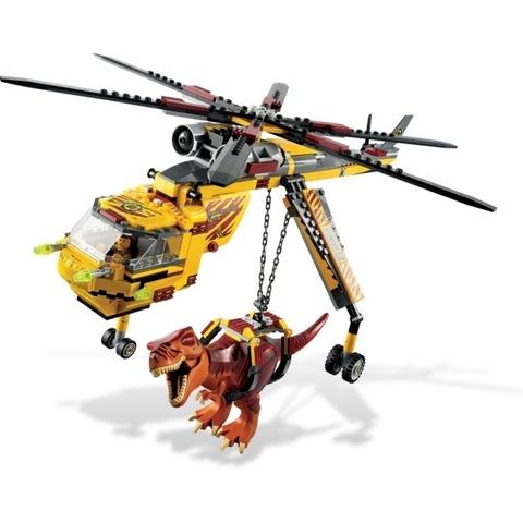 Mô hình máy bay đang bắt con khủng long trong bộ xếp hình Lego Dino 5886 - T-Rex Hunter