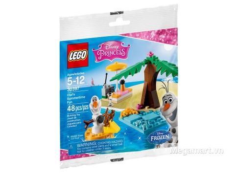 Ảnh bìa sản phẩm Lego Disney Princess 30397 - Kì nghỉ hè vui nhộn của Olaf