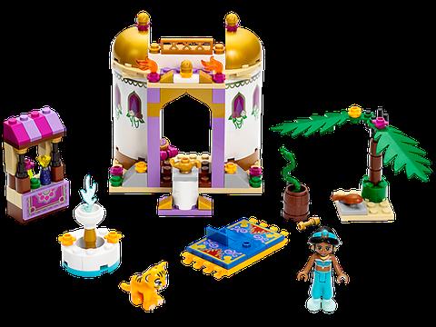 Toàn cảnh bộ đồ chơi Lego Disney Princess 41061 – Cung điện của công chúa Jasmine với đường nét thiết kế mang đậm chất Ấn Độ, đồng thời cũng mang đặc trưng của chi tiết xếp hình Lego