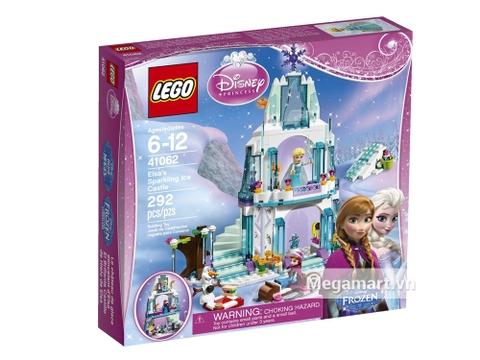 Hình ảnh vỏ hộp bộ Lego Disney Princess 41062 - Lâu Đài Băng Của Elsa