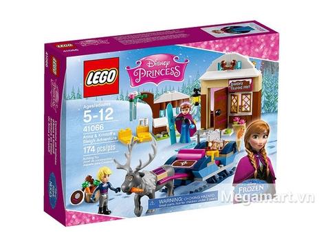 Hình ảnh vỏ hộp bộ Lego Disney Princess 41066 - Xe Kéo Phiêu Lưu Của Anna Và Kristoff
