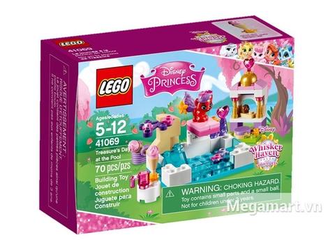 Hình ảnh vỏ hộp bộ Lego Disney Princess 41069 - Kho Báu Tại Hồ Bơi