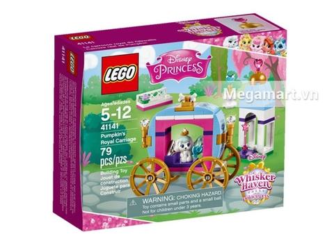 Hình ảnh vỏ hộp bộ Lego Disney Princess 41141 - Xe Kéo Hoàng Gia Của Pumpkin