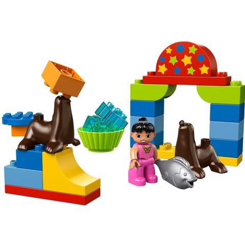 Các chi tiết có trong bộ xếp hình Lego Duplo 10503 - Buổi Trình Diễn Xiếc