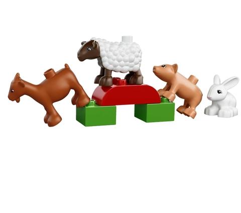 Các con vật có trong bộ xếphình Lego Duplo 10522 - Động Vật Nông Trại