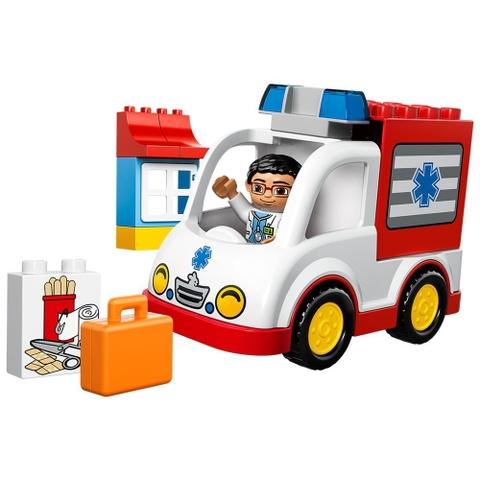Hình ảnh toàn bộ các chi tiết trong bộ Lego Duplo 10527 - Xe Cứu Thương