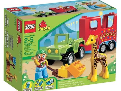 Vỏ hộp sản phẩm đồ chơi Lego Duplo 10550 - Xiếc Lưu Động