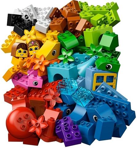 Các mảnh ghép có trong bộ Lego Duplo 10557 - Thùng gạch sáng tạo
