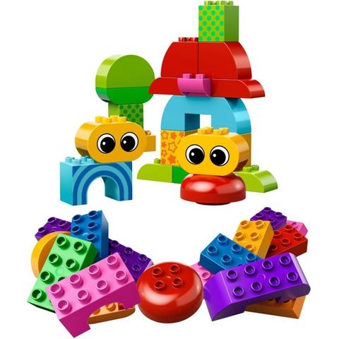 Bộ đồ chơi xếp hình với những miếng ghép đơn giản, màu sắc bắt mắt với trẻ nhỏ