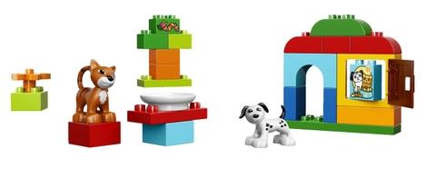 hình ảnh sản phẩm trong bộ Lego Duplo 10570 - Hộp quà cún và mèo con