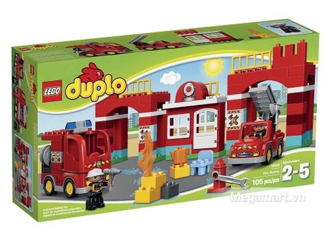 Vỏ hộp sản phẩm Lego Duplo 10593 - Trạm cứu hỏa