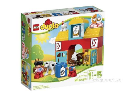Hình ảnh vỏ hộp bộ Lego Duplo 10617 - Nông trại đầu tiên