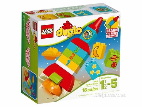 Hình ảnh vỏ hộp bộ Lego Duplo 10815 - Tên lửa học số đầu tiên của bé