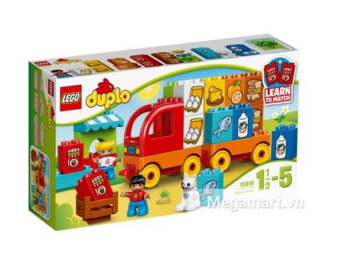 Hình ảnh vỏ hộp bộ Lego Duplo 10818 - Xe Tải Đầu Tiên Của Bé
