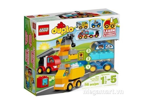Hình ảnh vỏ hộp bộ Lego Duplo 10816 - Ô tô đầu tiên của bé