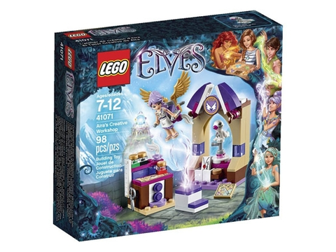 Vỏ hộp bộ xếp hình Lego Elves 41071 - Căn phòng sáng tạo của Aira