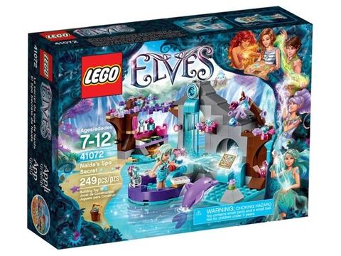 Vỏ hộp sản phẩm Lego Elves 41072 - Thẩm mỹ viện bí mật của Naida