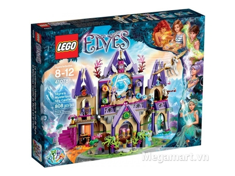 Hình ảnh vỏ hộp bộ xếp hình Lego Elves 41078 - Lâu đài Trên Không của Skyra