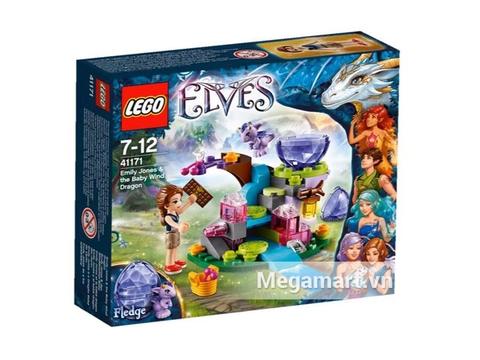 Vỏ hộp bộ đồ chơi Lego Elves 41171 - Emily Jones Và Tiểu Phong Long