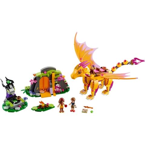 Trọn bộ các chi tiết có trong Lego Elves 41175 - Hang Núi Bí Mật Của Rồng Lửa