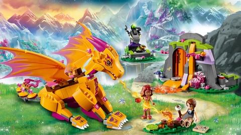 Bộ xếp hình Lego Elves 41175 - Hang Núi Bí Mật Của Rồng Lửa độc đáo