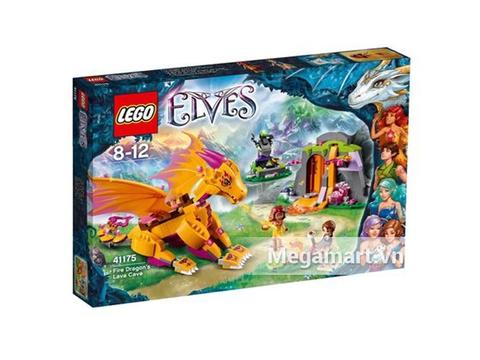 Vỏ hộp đựng bộ xếp hình Lego Elves 41175 - Hang Núi Bí Mật Của Rồng Lửa