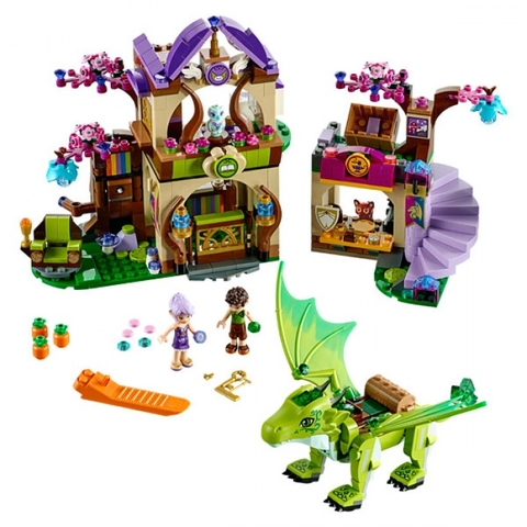 Toàn bộ các mô hình sinh động trong bộ xếp hình Lego Elves 41176 - Phiên Chợ Bí Mật