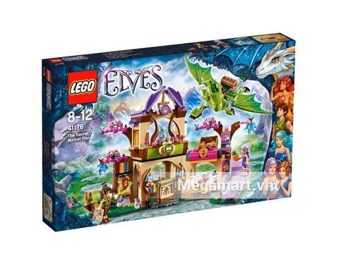 Vỏ hộp sản phẩm Lego Elves 41176 - Phiên Chợ Bí Mật