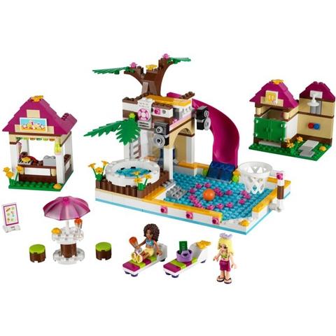 Trọn bộ các mô hình trong bộ đồ chơi Lego Friends 41008 - Hồ Bơi Thành Phố sau khi hoàn thành