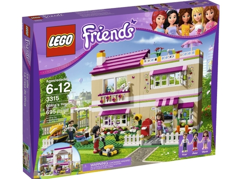 Hình ảnh vỏ hộp đựng các chi tiết trong bộ đồ chơi Lego Friends 41008 - Hồ Bơi Thành Phố