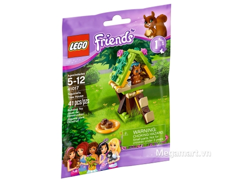 Lego Friends 41017 - Nhà Cây Cho Sóc - nhìn từ vỏ ngoài sản phẩm