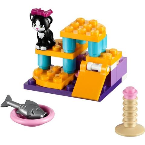 Trọn bộ mô hình Lego Friends 41018 - Sân Chơi Cho Mèo Cưng sau khi hoàn thành
