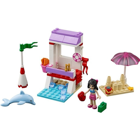 Tron bộ các chi tiết mà bé sẽ có trong bộ xếp hình Lego Friends 41028 - Chòi Cứu Hộ Của Emma