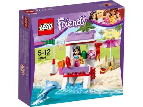 Hình ảnh thực tế bên ngoài sản phẩm Lego Friends 41028 - Chòi Cứu Hộ Của Emma