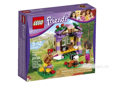 Hình ảnh thực tế vỏ hộp của sản phẩm Lego Friends 41031 - Nhà Trên Núi Của Andrea