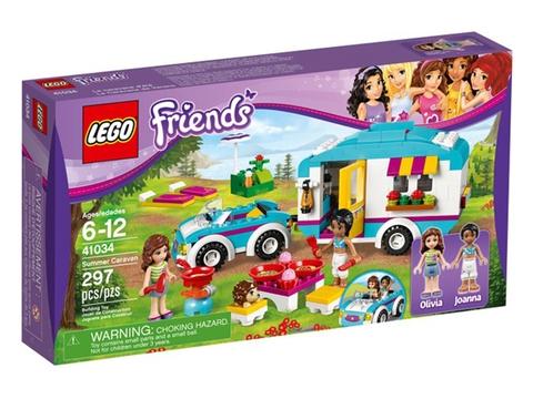 Vỏ hộp đựng thực tế bộ đồ chơi Lego Friends 41034 - Xe Cắm Trại Mùa Hè