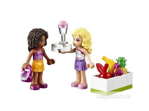 Kích thích trí thông minh trẻ nhỏ với bộ xếp hình Lego Friends 41035 - Cửa Hàng Nước Trái Cây Heartlake