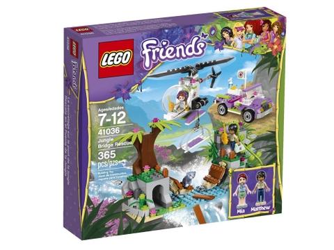 Hình ảnh vỏ ngoài hộp đựng sản phẩm Lego Friends 41036 - Cứu Hộ Tại Cầu Treo