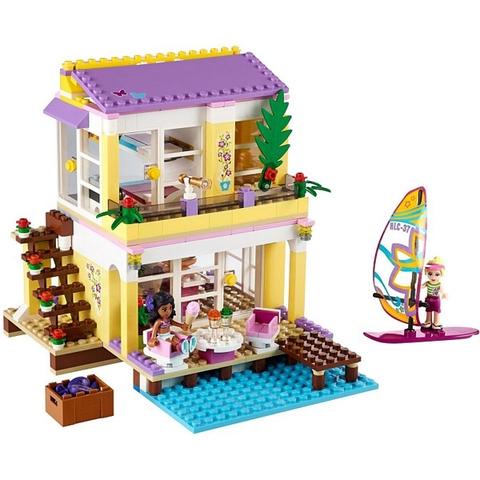 Bộ xếp hình Lego Friends 41037 - Nhà Bãi Biển Của Stephanie sau khi lắp ráp hoàn chỉnh