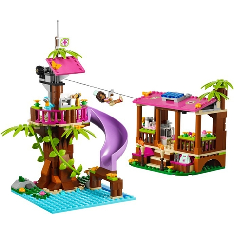 Lego Friends 41038 - Căn Cứ Giải Cứu Rừng Xanh mang đến cho bé nhiệm vụ thú vị