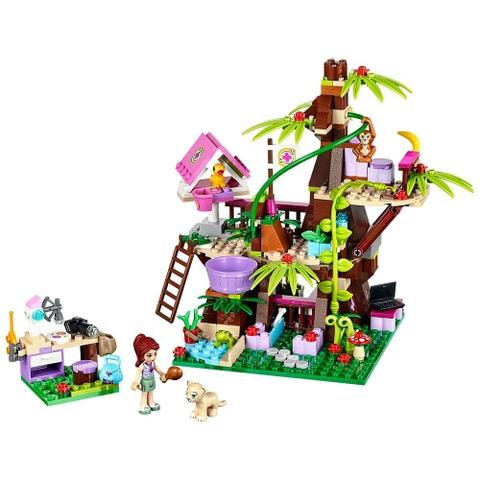 Trọn bộ các mô hình Lego Friends 41059 - Nhà Cây Trong Rừng sau khi hoàn thành