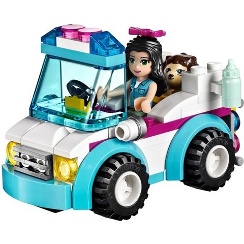 Chất liệu nhựa tuyệt đối an toàn cho bé khi chơi Lego Friends 41086 - Xe Cấp Cứu Thú Nuôi