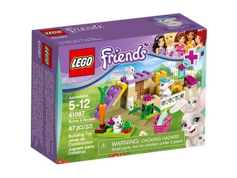 Hình ảnh vỏ hộp đựng sản phẩm Lego Friends 41087 - Thỏ Mẹ Bunny Và Thỏ Con
