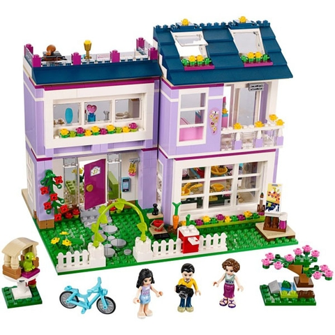 Mô hình Lego Friends 41095 - Ngôi Nhà Của Emma đẹp từ bên ngoài tới bên trong