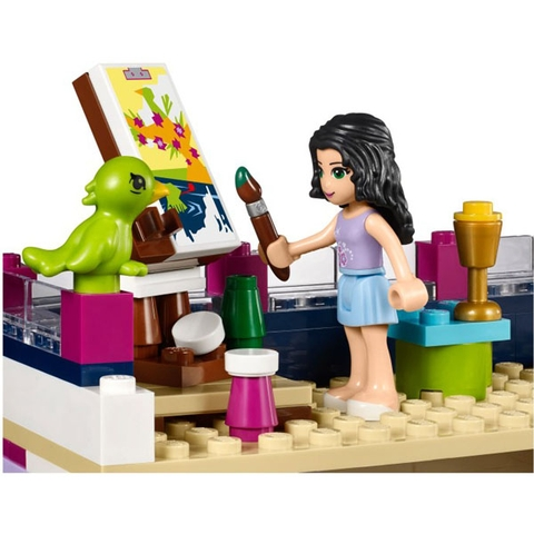 Bộ xếp hình Lego Friends 41095 - Ngôi Nhà Của Emma với những miếng ghép đầy màu sắc cho bé thả sức sáng tạo