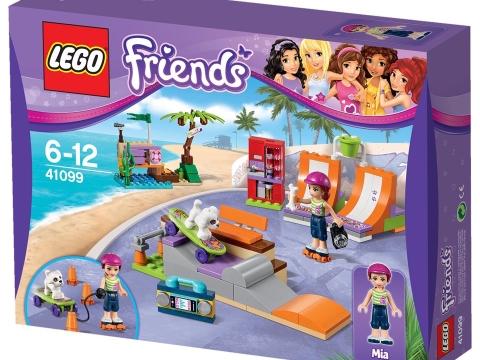 Thiết kế vỏ hộp bên ngoài của Lego Friends 41099 - Công Viên Trượt Ván Heartlake