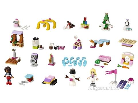 Khám phá các mô hình chi tiết có trong sản phẩm Lego Friends 41102 - Bộ Lịch Lego Friends 2015 được thiết kế thân thiện, bắt mắt